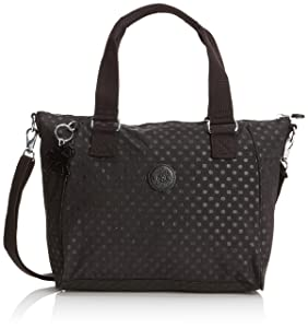 Kipling Amiel, Sac porté main - Noir (Black Dot Emb), Taille Unique   passe en revue plus d'informations