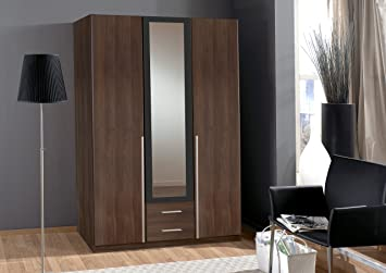 Wardrobe German made 3 door from Wimex 3 Doors in Dark Walnut Sale 7 star Furniture