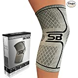 SB SOX Compression Knee Brace for Knee Pain - Braces and Supports Knee for Pain Relief, Meniscus Tear, Arthritis, Injury, Running, Joint Pain, Support (Medium, Gray/Black) (Color: Gray/Black, Tamaño: Medium)