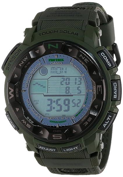 光动能 六局电波 高度、温度、气压传感器,专业登山表Casio Men's PRW-2500B-3CR ProTrek Tough Solar Atomic Digital Watch-奢品汇 | 海淘手表 | 腕表资讯