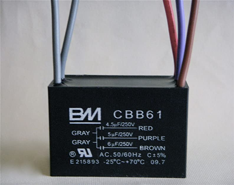 Bm Ceiling Fan Capacitor 5 Wire 4 5  5  6