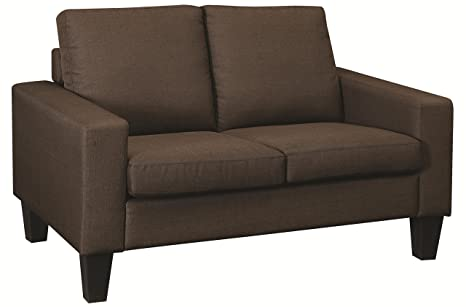 Loveseat in Chocolate Finish