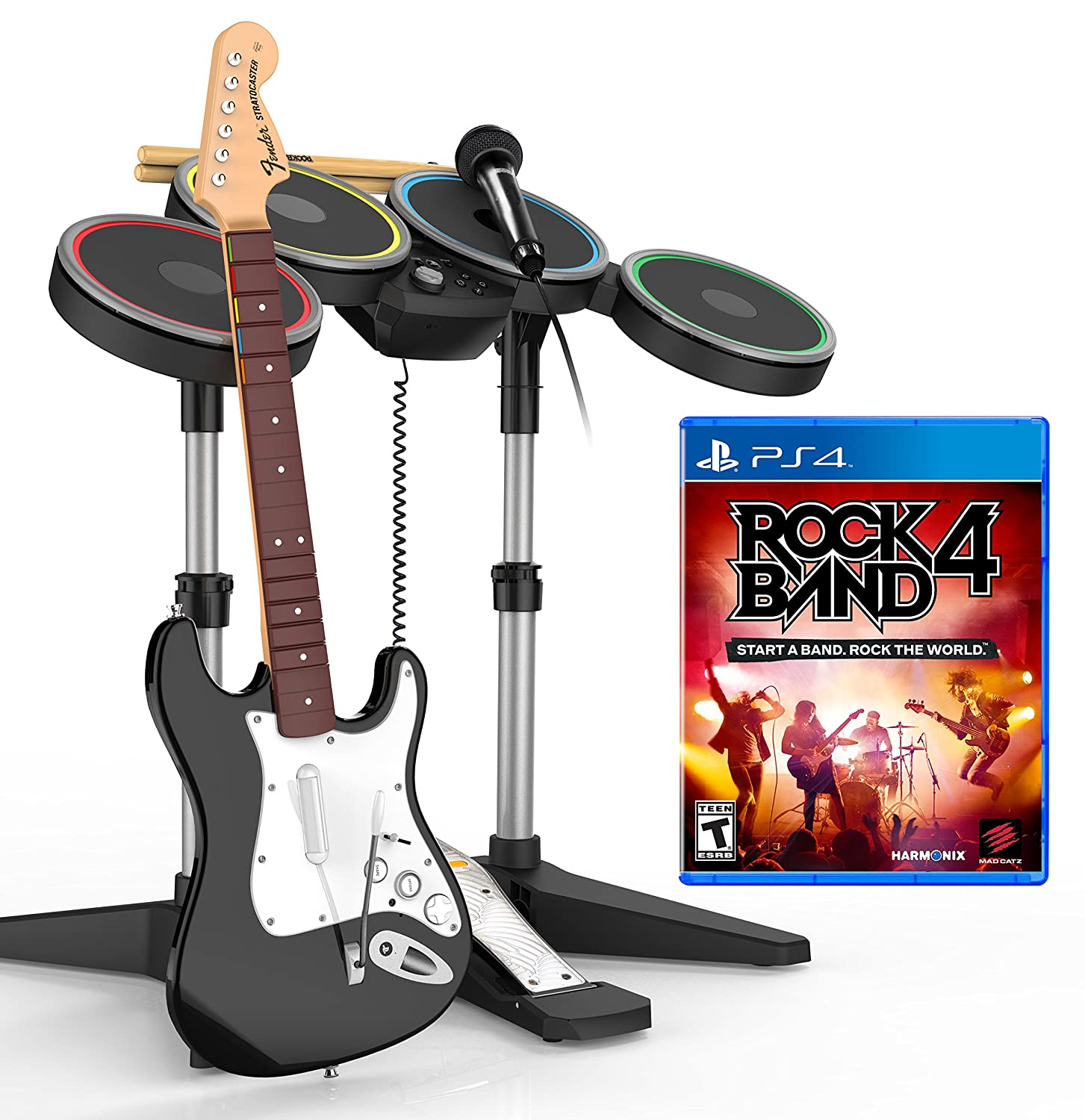 [Amazon.ca] PS4 Rock Band 4 Band-in-a-Box Software Bundle $185 (Reg $350)