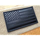 5x3 inch Large Black Infrared IR US USA American Flag Patch Tactical Vest Patch Hook-Fastener Backing (5