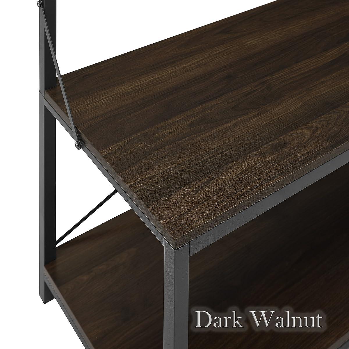 New 72 Inch Tall Hall Tree - Dark Walnut Color