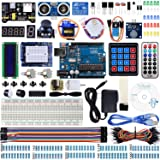 Miuzei UNO R3 Starter Kit for Arduino Projects with UNO R3 Board, LCD1602 Module, Breadboard, Servo, 9V 1A Power Supply, sensors, LEDs, Detailed Tutor