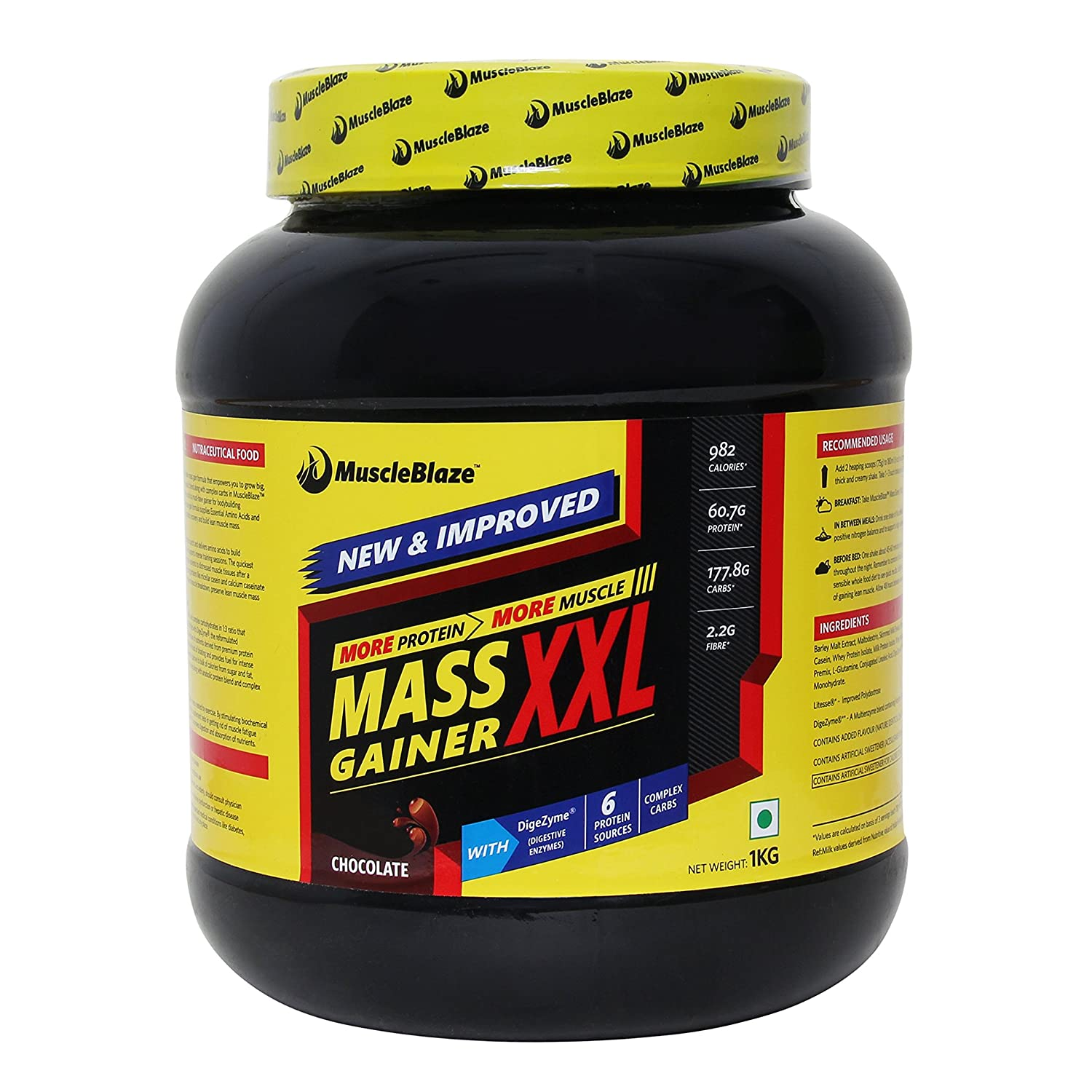 Upto 30% Off On Sports Supplements By Amazon | MuscleBlaze Mass Gainer XXL, 1kg / 2.2 lb Chocolate @ Rs.899