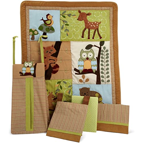 Lambs & Ivy 5 Piece Bedding Set Enchanted Forest