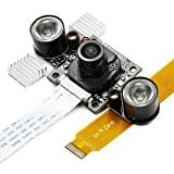 Arducam Noir Camera for Raspberry Pi - IR Cut Filter Auto Switch for Daylight Accuracy, LED IR Illuminator for Night Vision, OV5647 5MP 1080P (Color: Switchable IR Cut Filter, Tamaño: Switchable IR Cut Filter)