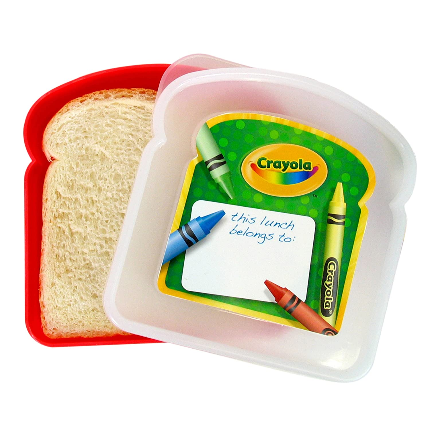 Evriholder Crayola Sandwich Container, Colors Vary - Keeps sandwiches fresh, Made from BPA-free material