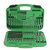 Hitachi 799962 120 Piece Drill Bit and Screwdriver Set, Impact, Spade, Masonry, Nut Drivers, Hard Plastic Case (Color: Green/Black, Tamaño: 120)