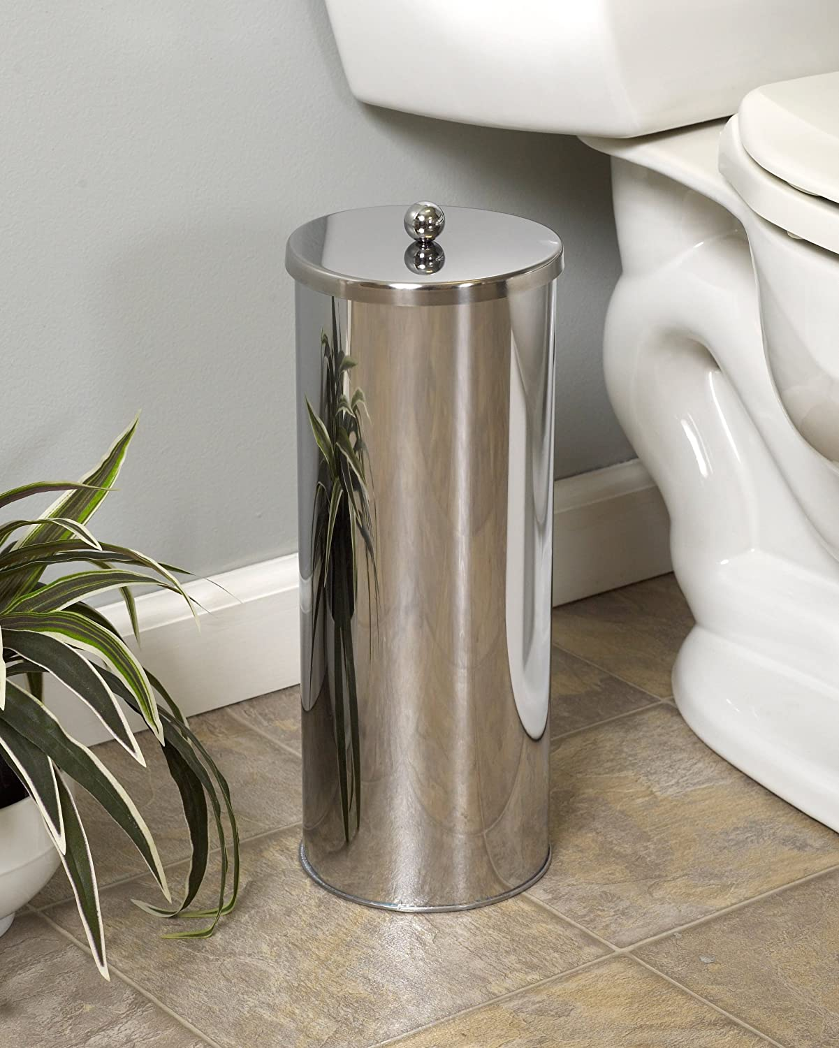 Zenna Home 7666st Toilet Paper Canister Chrome New