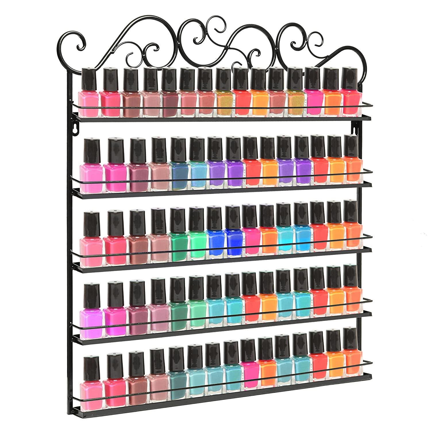 Professional Nail Polish Rack Holder Organizer Wall Mount
