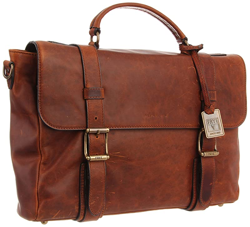 FRYE Men's Logan Antique Pull Up Flap Briefcase