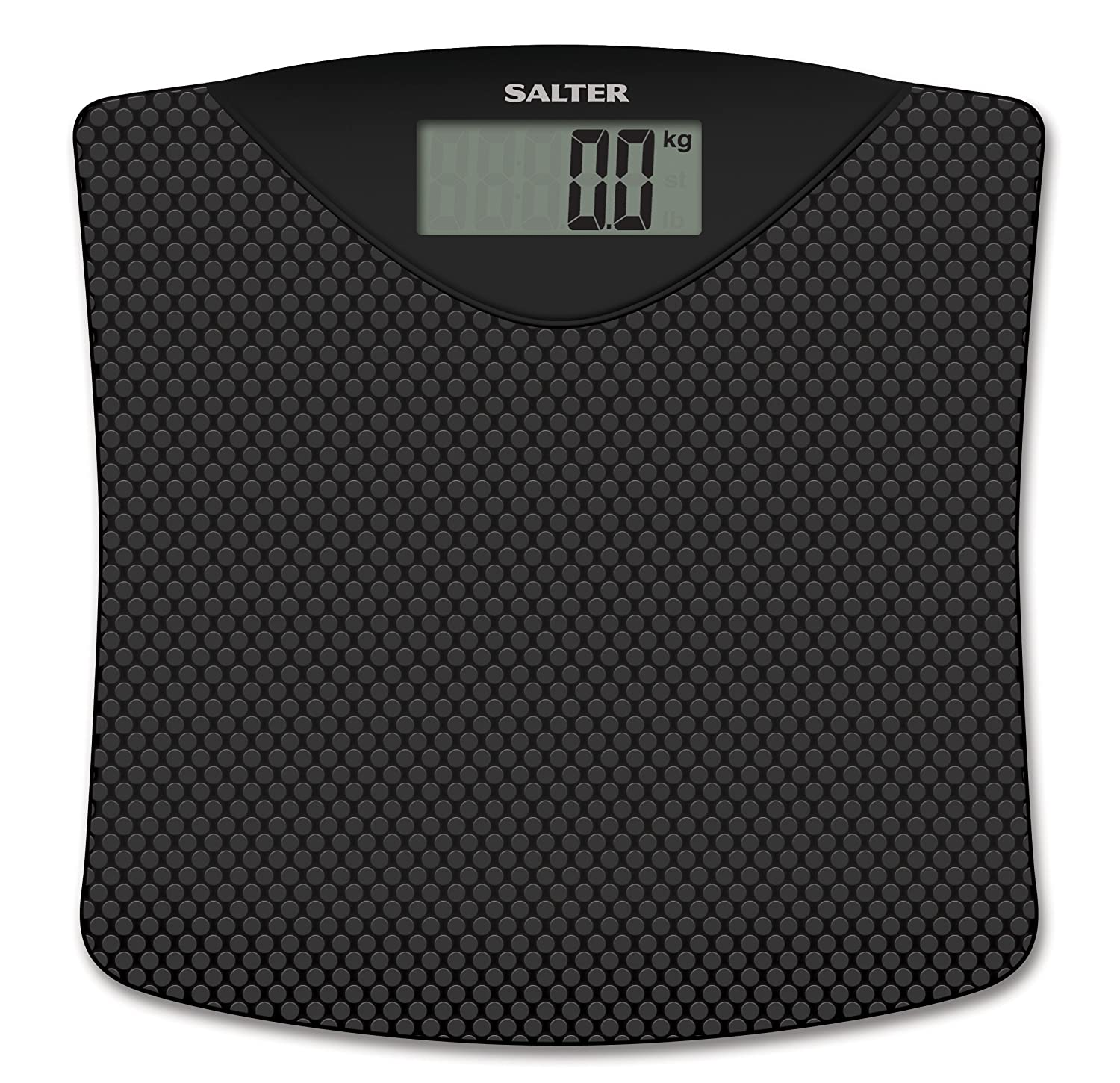 Salter 9071 BK3R Rubberized Platform Electronic Bathroom Scale