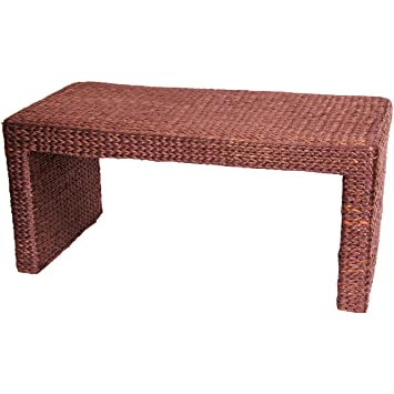 Oriental Furniture Great Excellent Unique Inexpensive Most Affordable, 36-Inch Woven Water Hyacinth Rattan Style Japanese Design Coffee Table