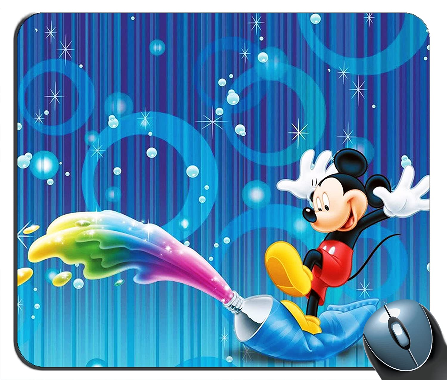 Custom Mickey Mouse A Splash of Color Mouse Pad g4215