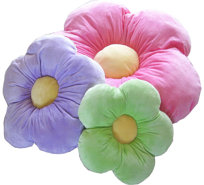 Daisy Flower Pillow - Green - Large