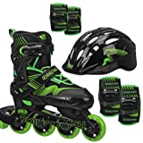 Roller Derby Carver Boys Inline/Protective Skate Pack Small (12-2)