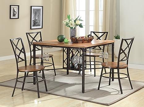 Baxton Studio Vintner Dining Set