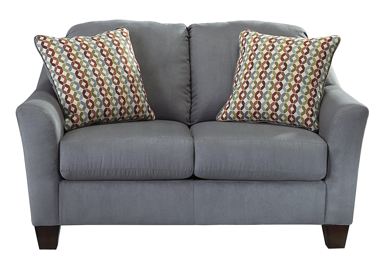 Hannin Contemporary Grey Fabric Loveseat