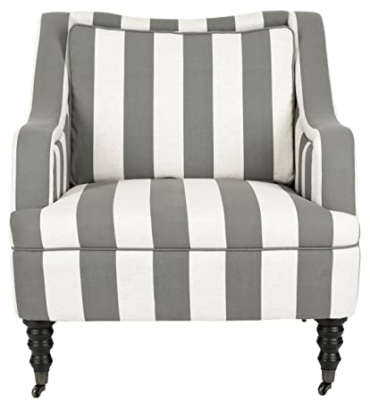 Safavieh SEU4652A Jackson Fauteuil Polyester Gris/Blanc Cassé 81 x 85 x 86,1 cm