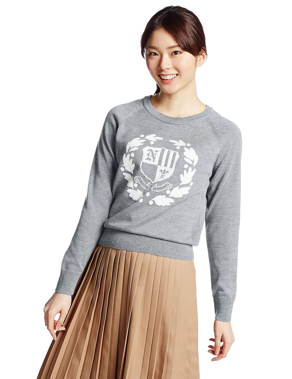 Amazon.co.jp: (イーハイフンワールドギャラリー)E hyphen world gallery カレッジJQニットプルオーバー 20151CB2020 107 Light Gray Mixture F: 服&ファッション小物通販