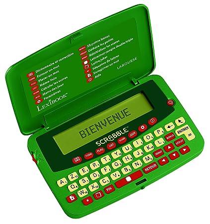 Lexibook – SCF-428FR - Dictionnaire électronique officiel du jeu de Scrabble ODS7 Larousse FISF, jeux de lettres. Arbitre. Correcteur d'orthographe, 400.000 mots, définitions. 4 jeux