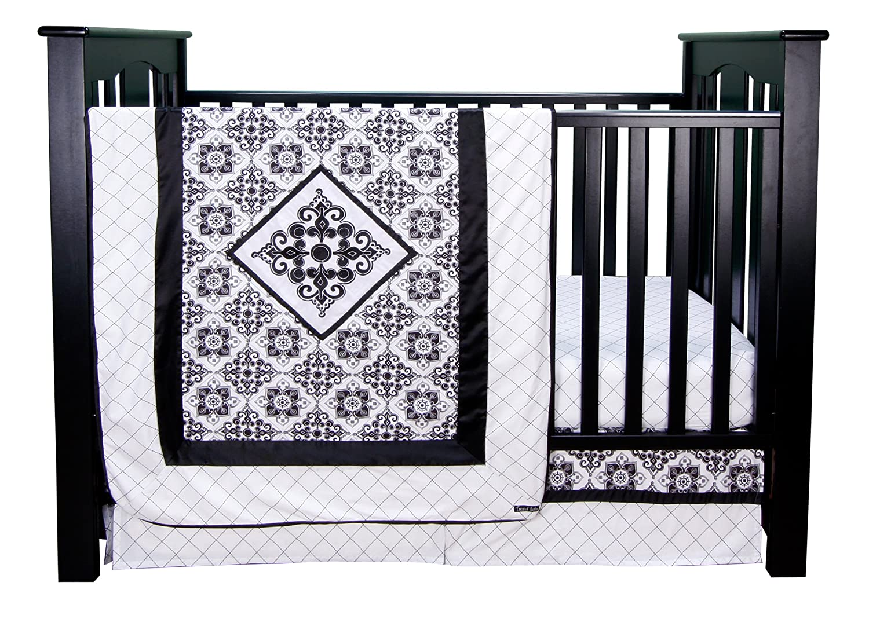 Trend Lab Versailles Black Amp White 3pc Crib Bedding Set