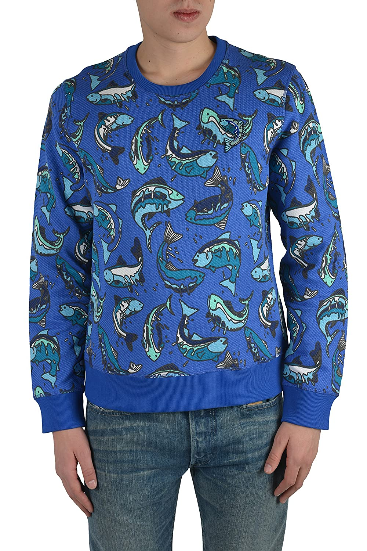 Kenzo Men's Blue Long Sleeve Sweater Size US M IT 50 косуха kenzo ут 00001040