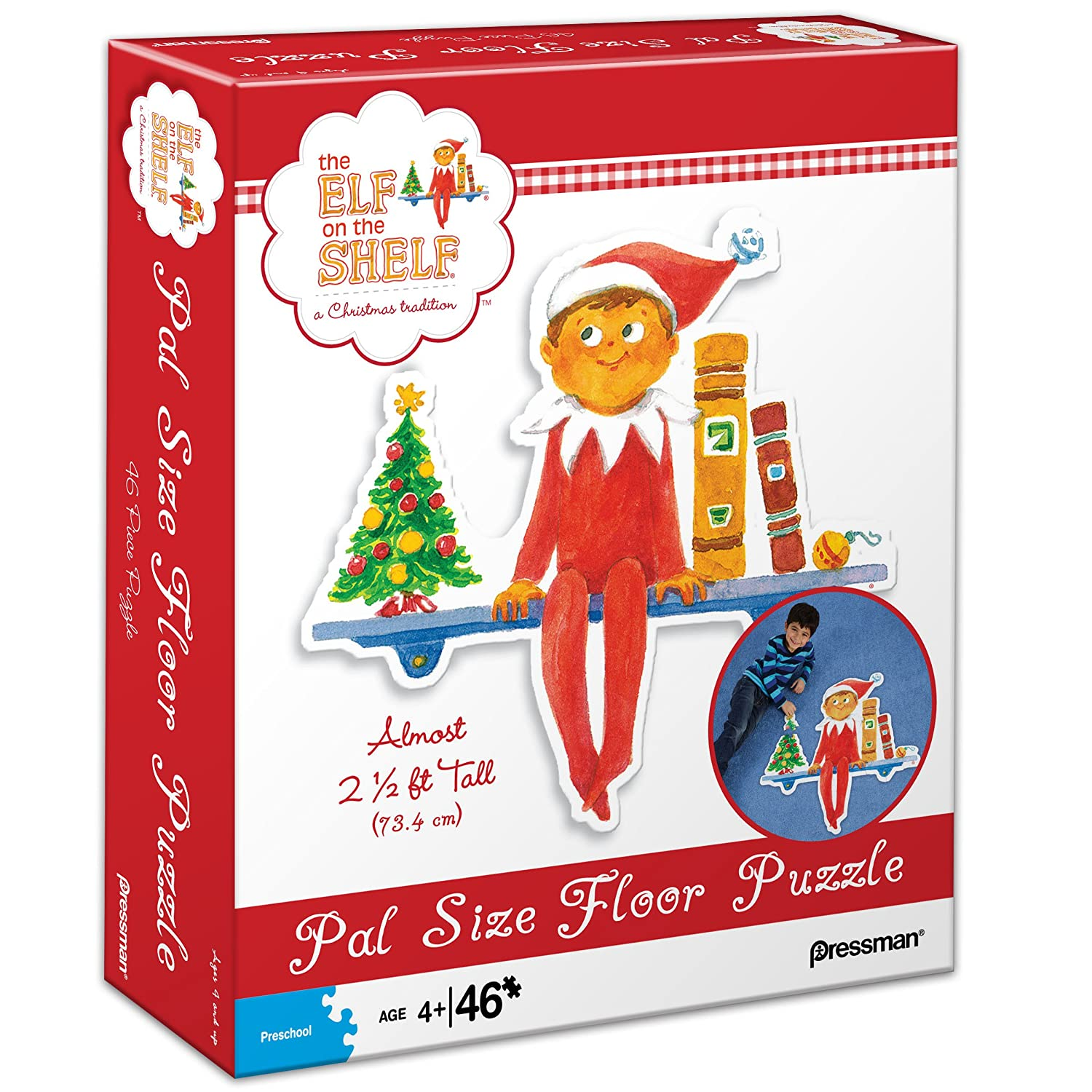 Elf on The Shelf Pal Size Floor Puzzle Ages 4+