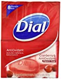 Dial Cranberry and Antioxidant Glycerin Soap Bar, 8 Count (Pack of 2)