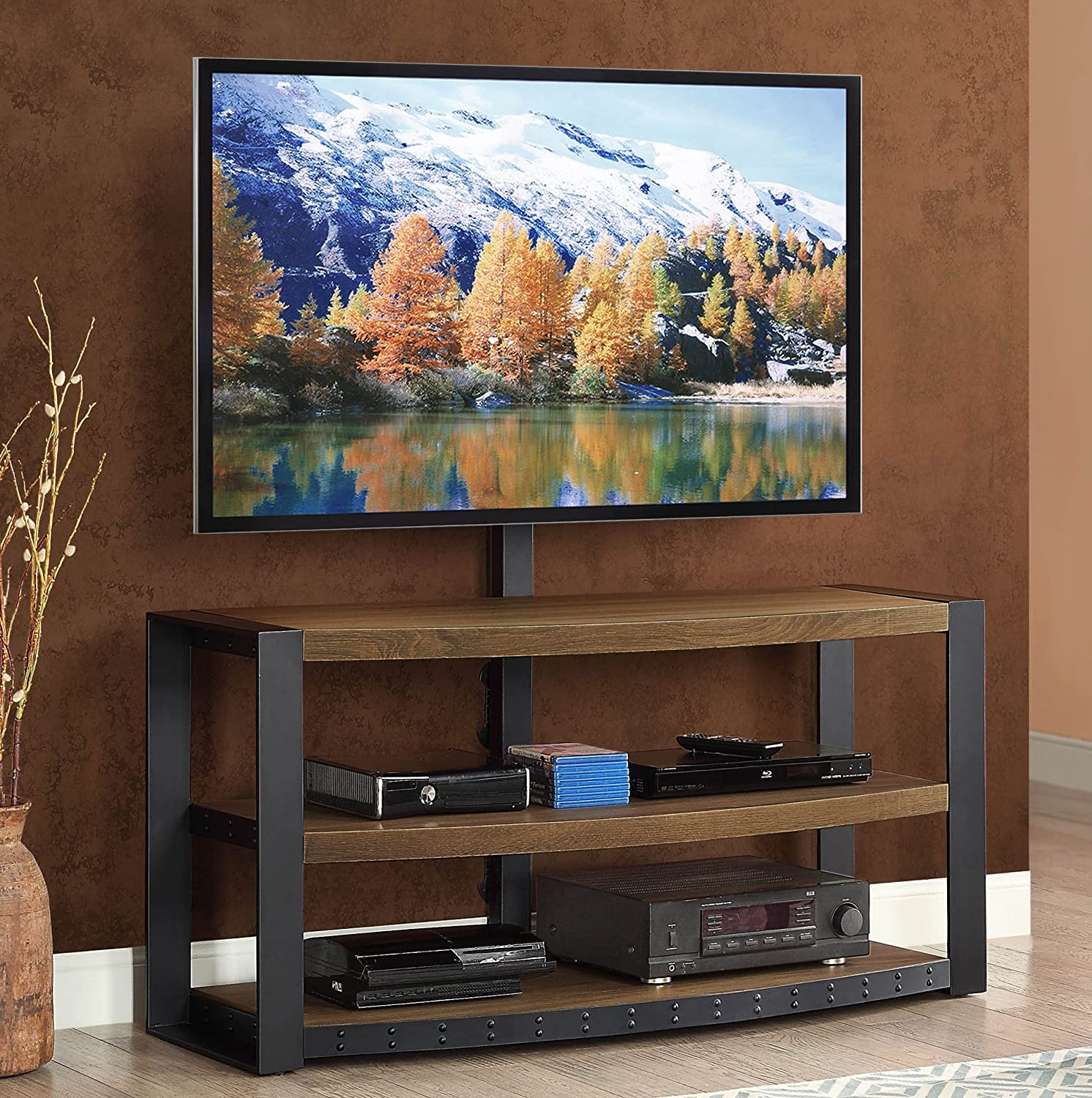 Whalen Furniture Santa Fe 3 In 1 TV Stand