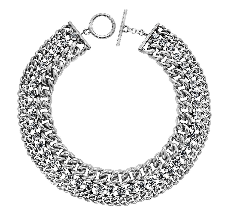 Kettenworld Damen Halskette Swarovski-Kristall weiß 34286_1 online bestellen