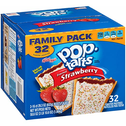 Pop-Tarts, Frosted Strawberry, 32 Count, 58.61 Ounce