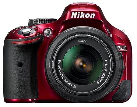 Nikon D5201 Appareil photo numérique Reflex 24.1 Kit Objectif 18-55 mm VR Rouge