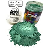 Stardust Micas Pigment Powder Cosmetic Grade Colorant for Makeup, Soap Making Dye, Wax, DIY Crafting Projects, Bright True Colors Stable Mica Batch Consistency Green Pine (Color: Green Pine, Tamaño: 72 Gram Jar)