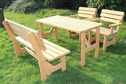 Set da giardino Nr 2sedile gruppo Lounge Set mobili da giardino mobili da giardino tavolo panca 1x tavolo + 1x + 2x sedia