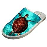 Cotton Sea Turtle Chelonian Thalassian House Slippers Babouches Baboosh Chinela Slipper