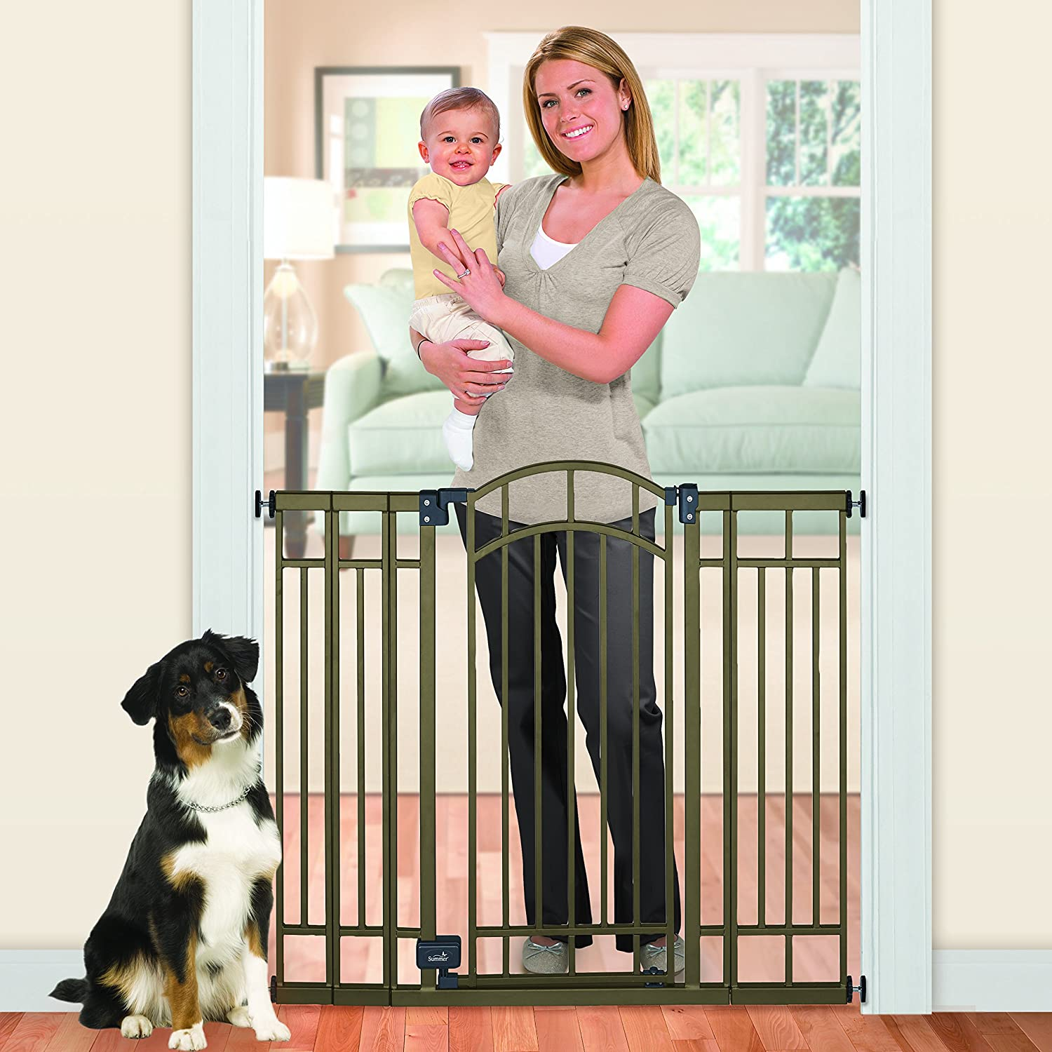 summer infant multiuse deco extra tall walkthru gate