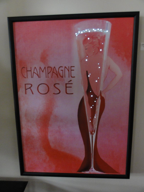 Bild beleuchtet kabellos, champagner
