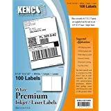 Kenco Premium White Address Shipping UPC Laser/Inkjet Labels Made in The USA (4