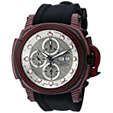 Invicta Men's 'Reserve' Automatic Stainless Steel and Silicone Casual Watch, Color:Black (Model: 23560)