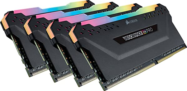 CORSAIR Vengeance RGB PRO 32GB (4x8GB) DDR4 2666MHz C16 LED Desktop Memory - Black (Color: RGB PRO - Black, Tamaño: 32GB (4x8GB))