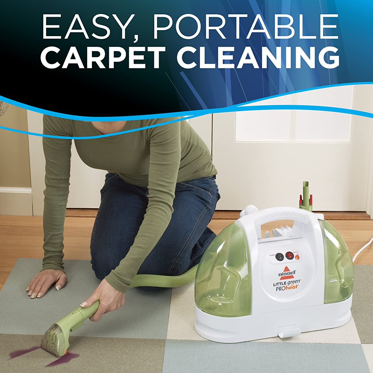 BISSELL Little Green ProHeat Compact Multi-Purpose Carpet Cleaner, 14259 - Corded