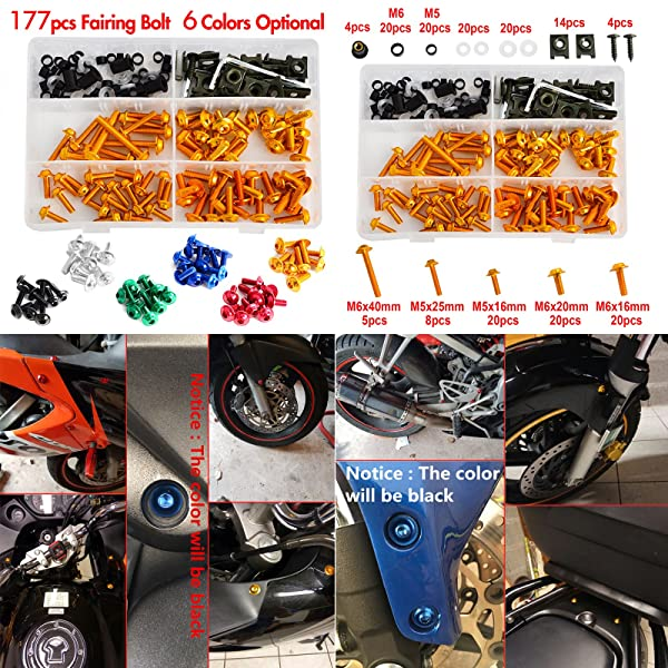 High Quality Fairing Motorcycle Bodywork Panel Clips Spire Nuts m6 6mm Pack 10