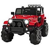 Best Choice Products 12V Ride On Car Truck w/ Remote Control, 3 Speeds, Spring Suspension, LED Light - Red (Color: Red)