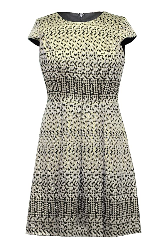 Sandra Darren Women Cap Sleeve Textured Shimmer Dress