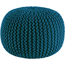 Handmade Seating Pouf - Teal