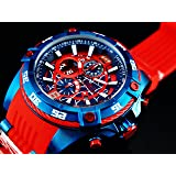 Invicta Marvel 52mm Bolt Viper Limited Edition SPIDERMAN Chronograph Red/Blue Dial Watch (Color: Blue)